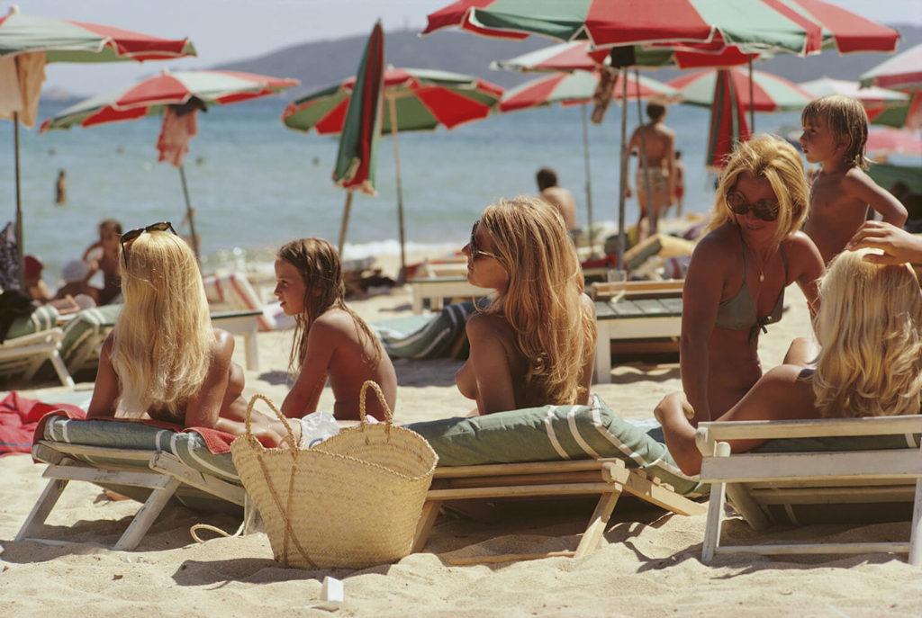 Saint-Tropez Beach from Slim Aarons Beach fine art photography