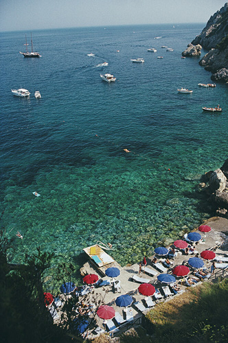 View From Il Pellicano from Slim Aarons Italy fine art photography