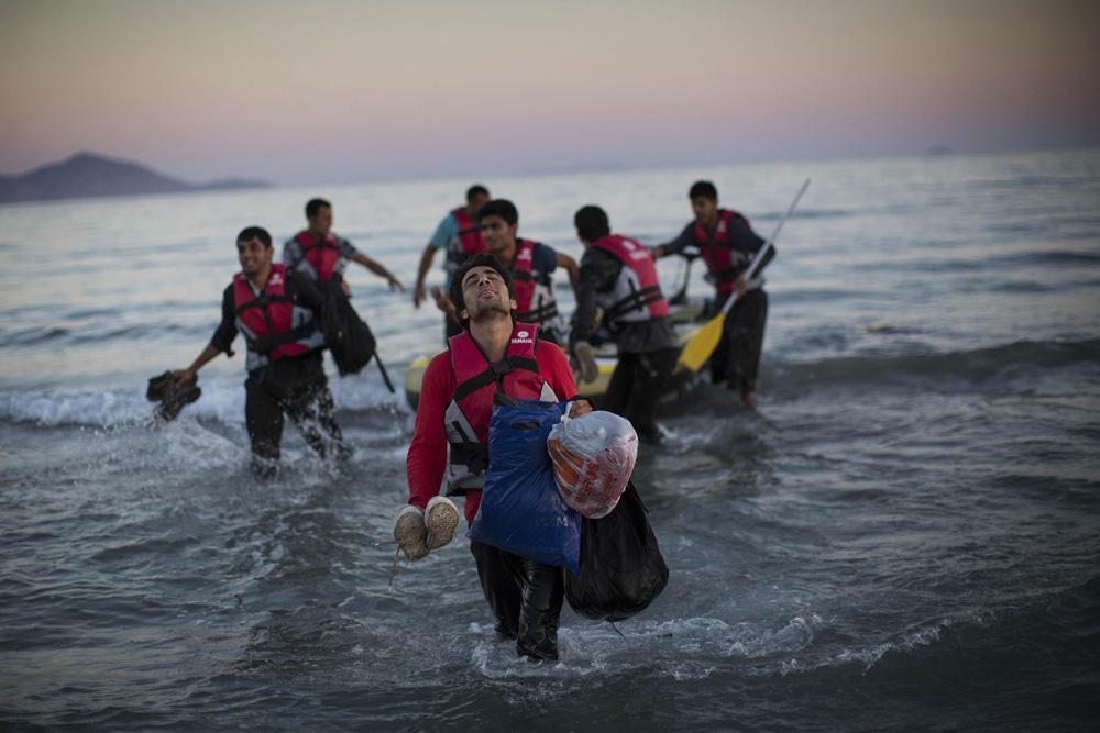 Migrants Arrive in Greece fine art photography