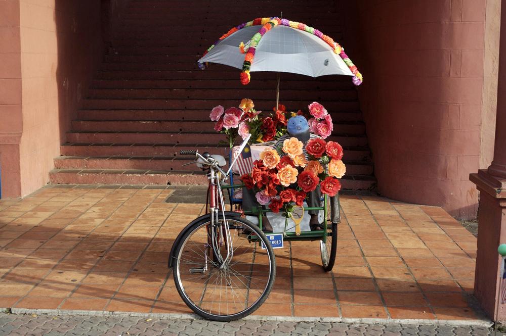 Flowers on Rickshaw fine art photography