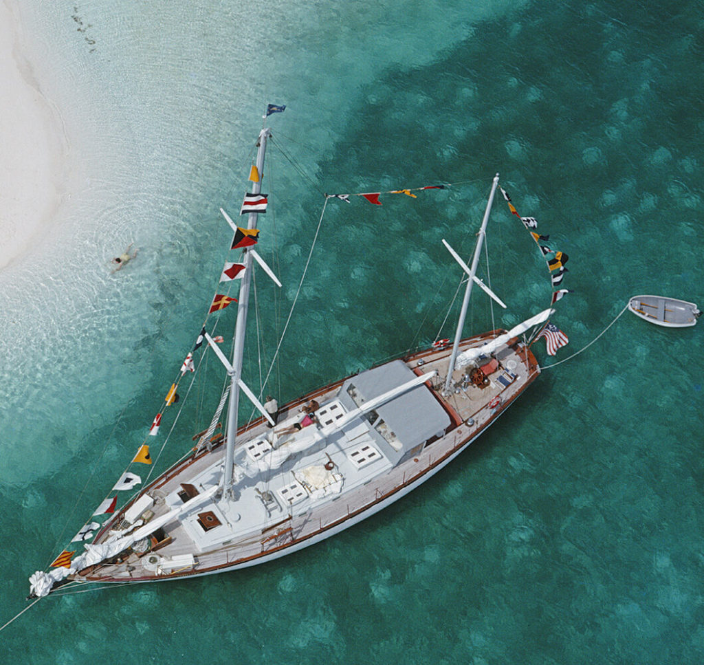 Charter Ketch from Slim Aarons Islands fine art photography