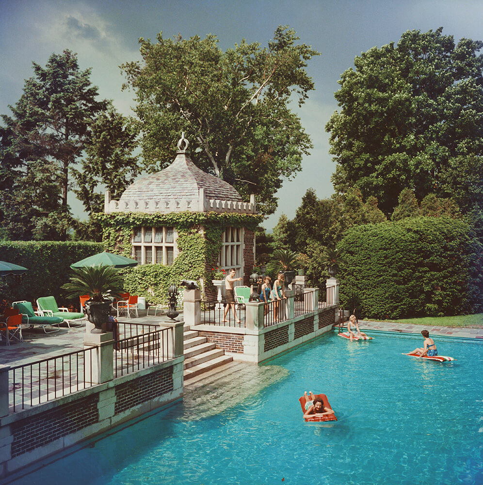 Family Pool from Slim Aarons Poolside fine art photography