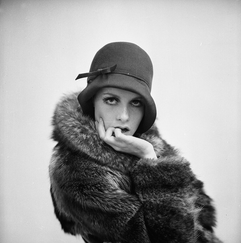 Twiggy Modelling from Fashion fine art photography