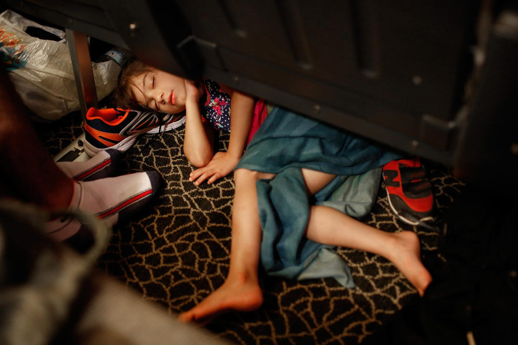 Girl Asleep on a Ferry fine art photography