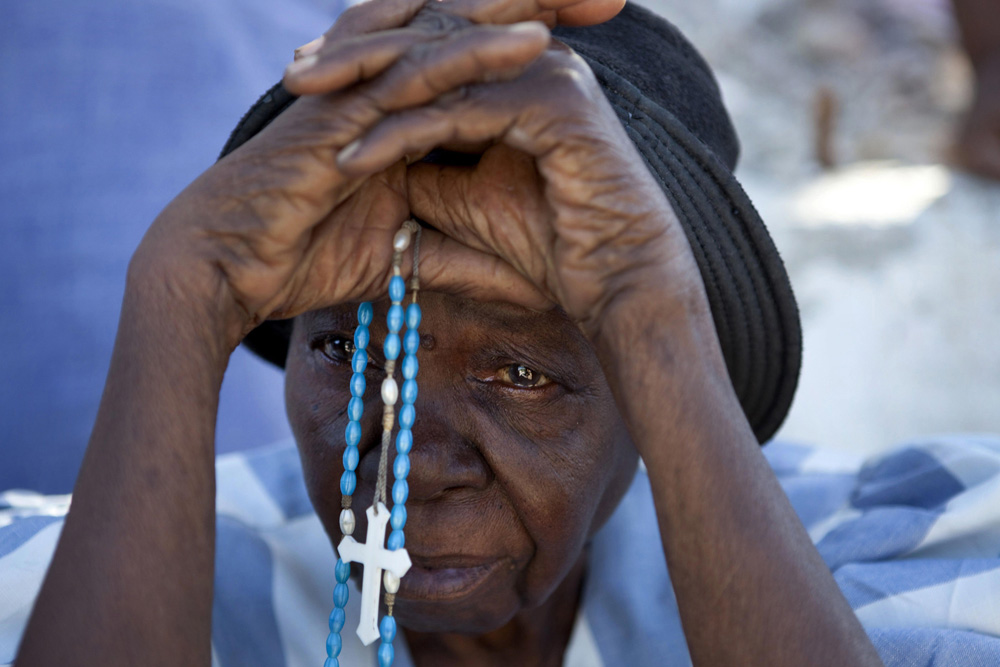 Praying for Earthquake Victims fine art photography
