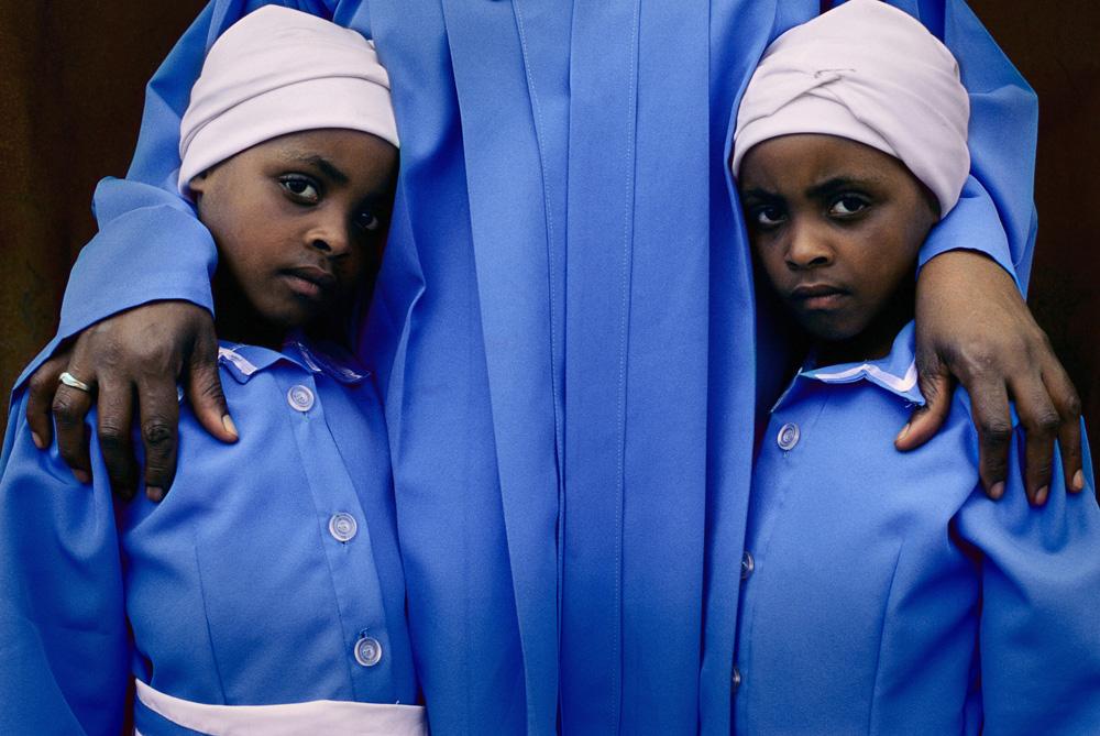 Twin Girls at Church fine art photography