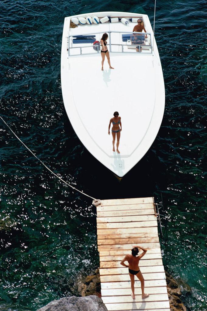 Speedboat Landing from Slim Aarons Beach fine art photography