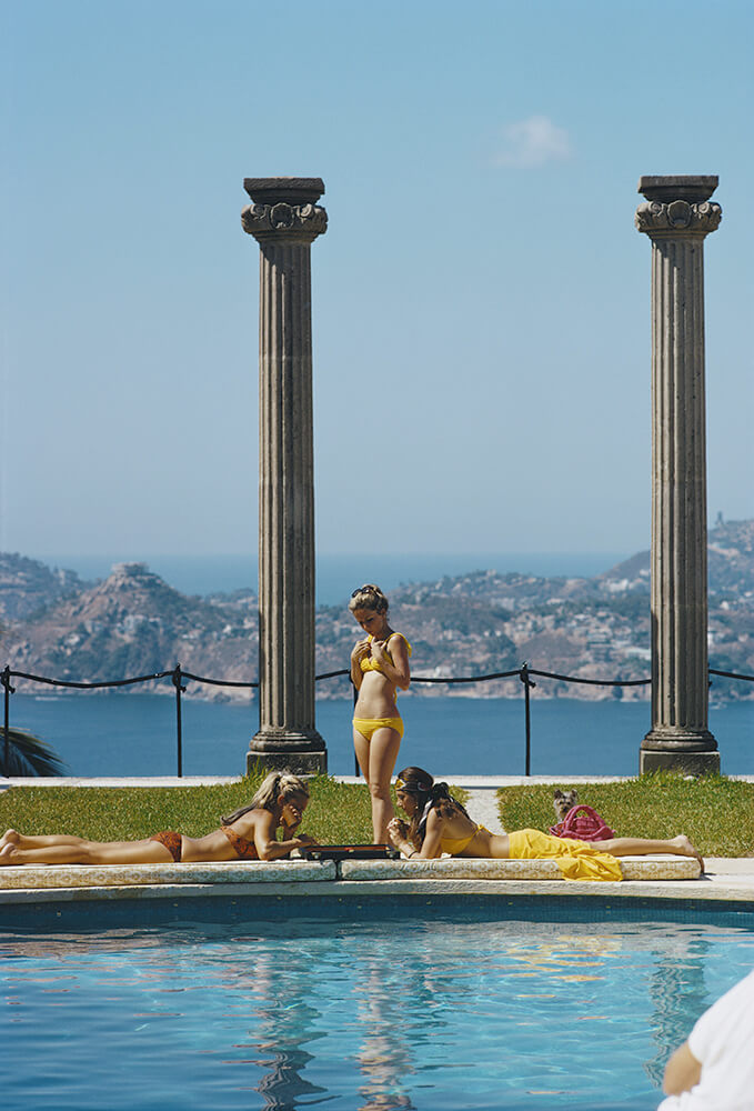 Snowmass Village from Slim Aarons Poolside fine art photography