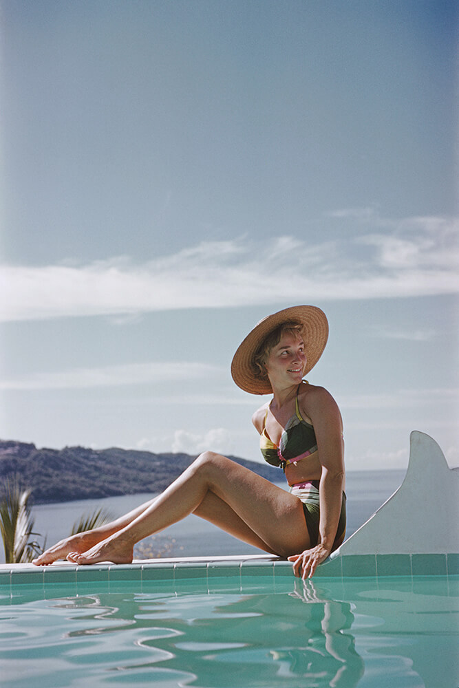 Ava Marshall from Slim Aarons Poolside fine art photography