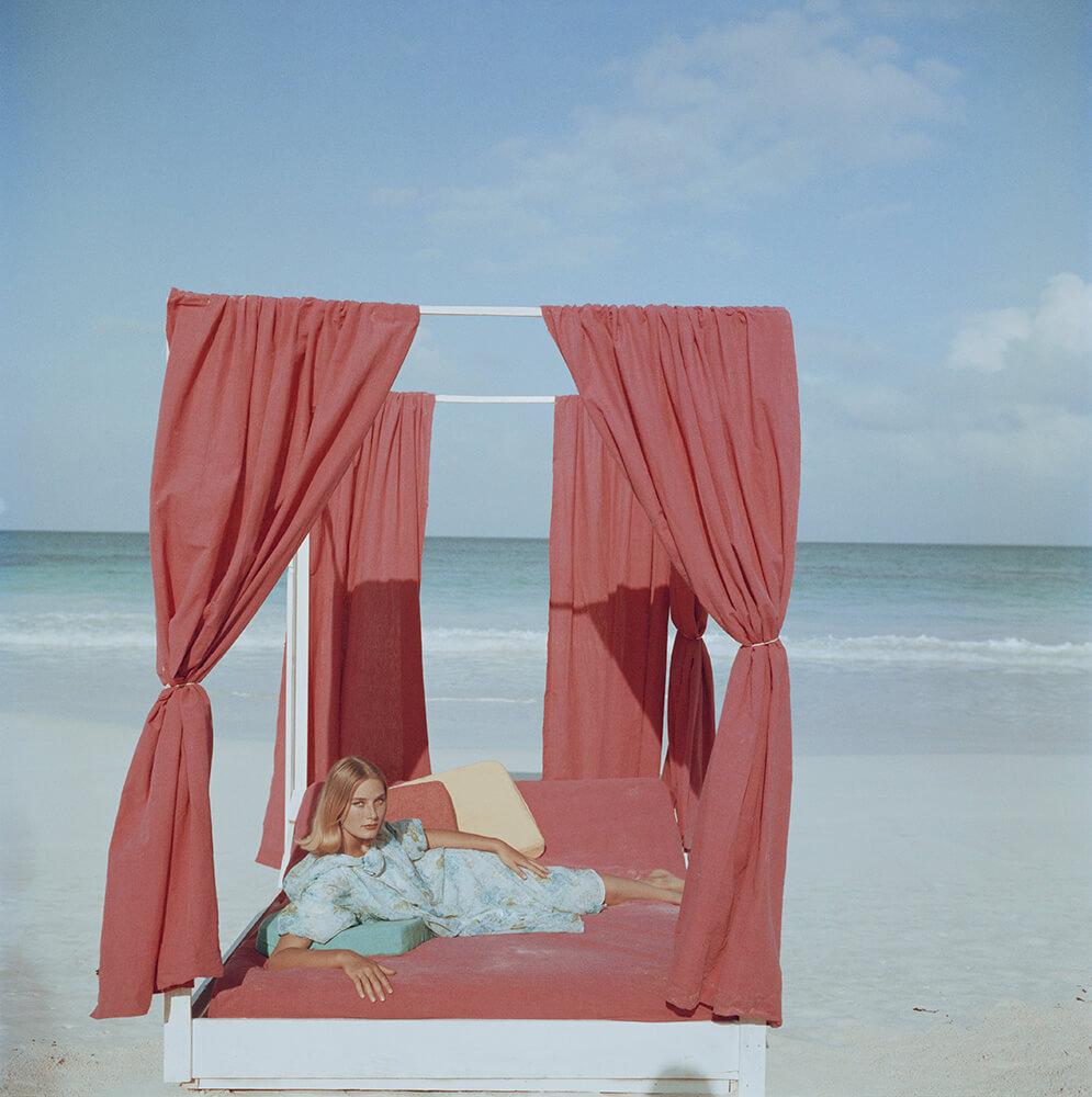 Olimpia Hruska from Slim Aarons Beach fine art photography