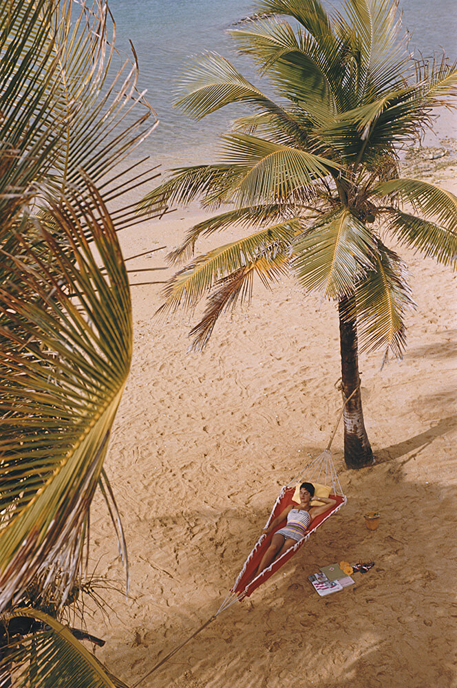 Product from Slim Aarons Beach fine art photography