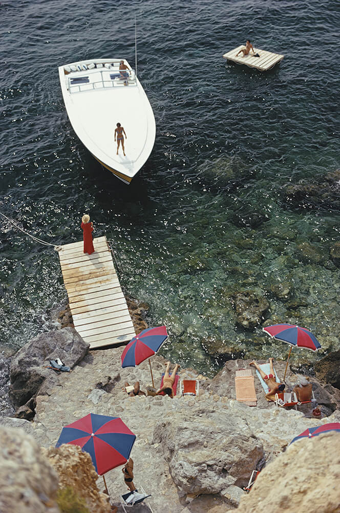 Coming Ashore from Slim Aarons Beach fine art photography