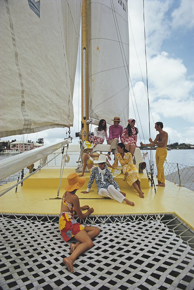 A Colourful Crew from Slim Aarons Islands fine art photography