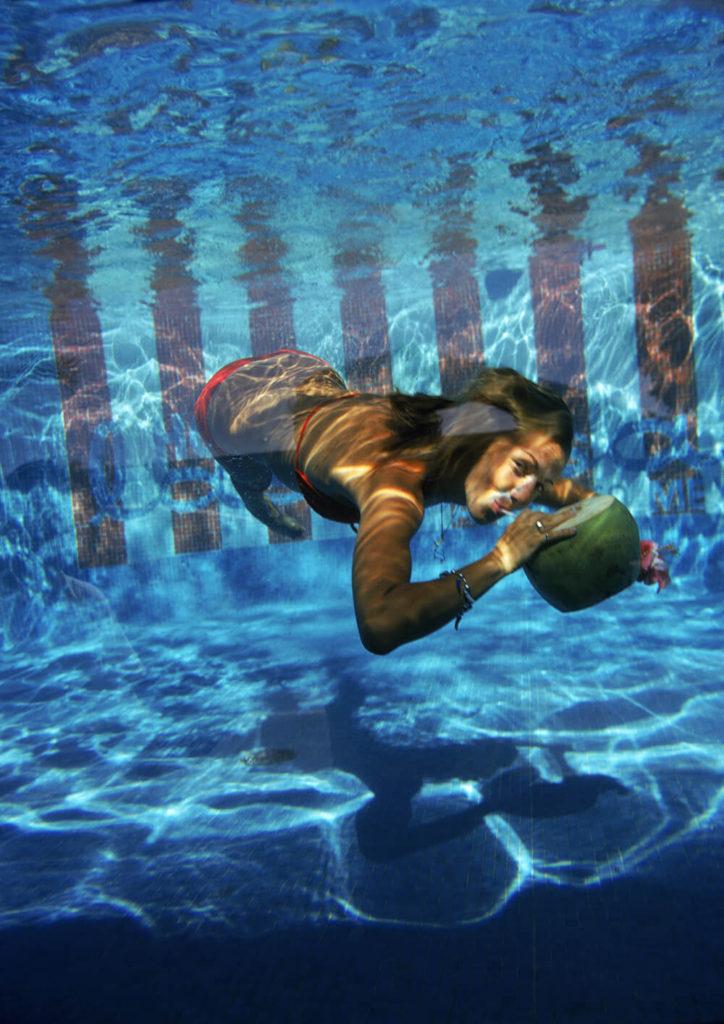 Underwater Drink from Slim Aarons Poolside fine art photography
