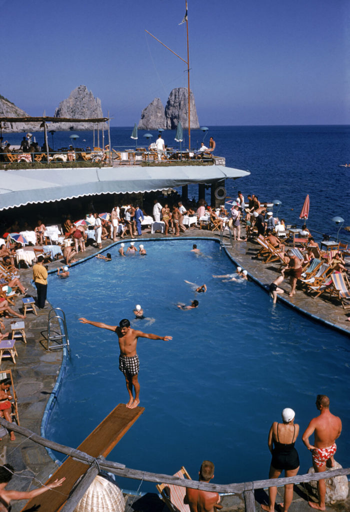 Marina Piccola from Slim Aarons Poolside fine art photography