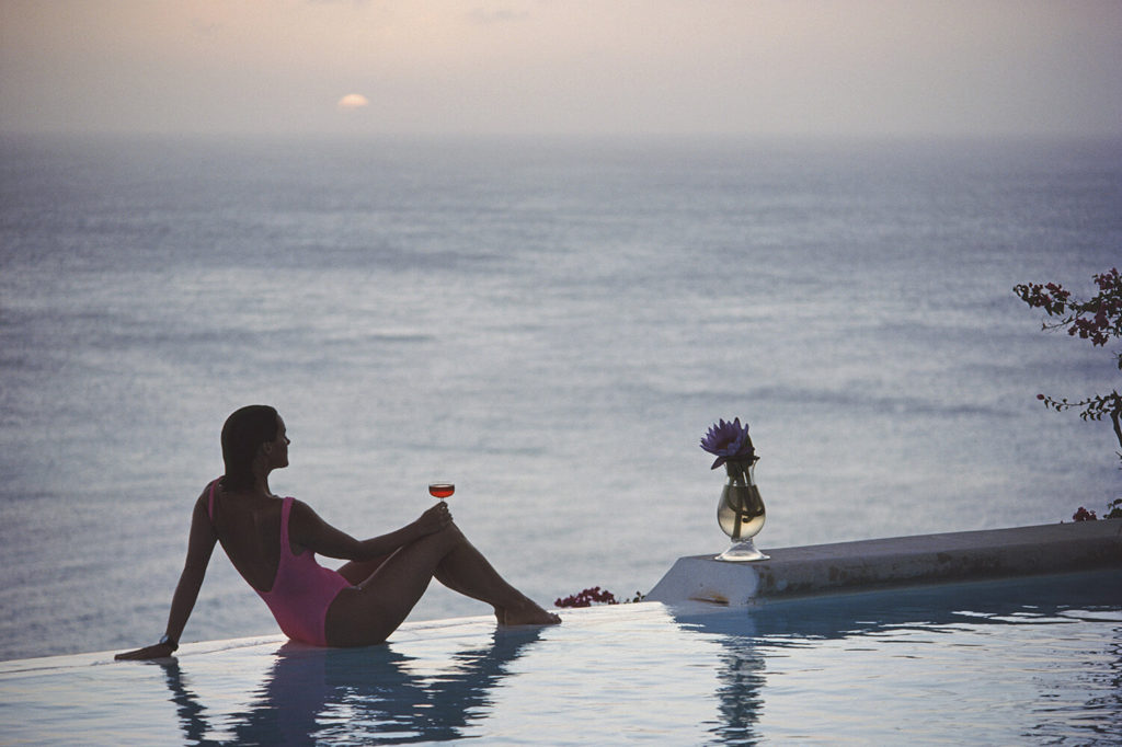 Mustique Tranquility from Slim Aarons Poolside fine art photography