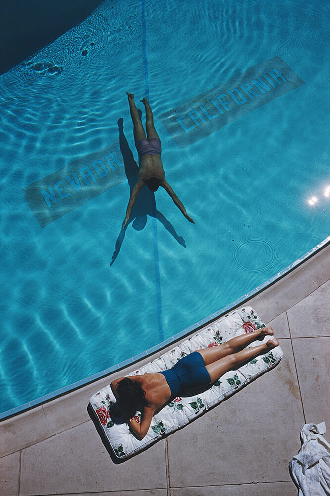 Swimmer And Sunbather from Slim Aarons Poolside fine art photography