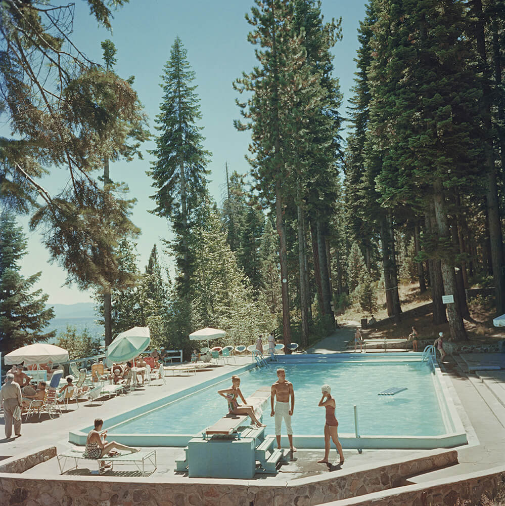 Pool At Lake Tahoe from Slim Aarons Poolside fine art photography