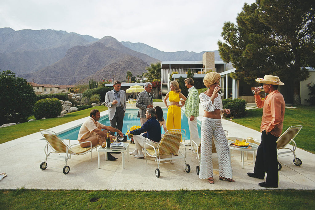 Desert House Party from Slim Aarons Poolside fine art photography