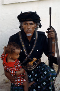Omani Man And Child