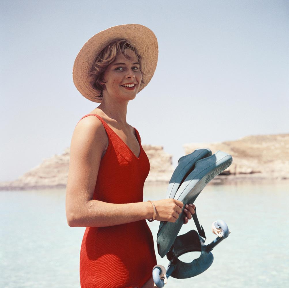 Marietine Birnie from Slim Aarons Beach fine art photography