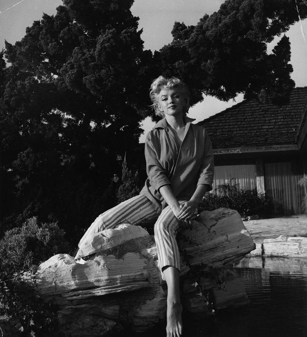 Marilyn Poses In Her Garden fine art photography