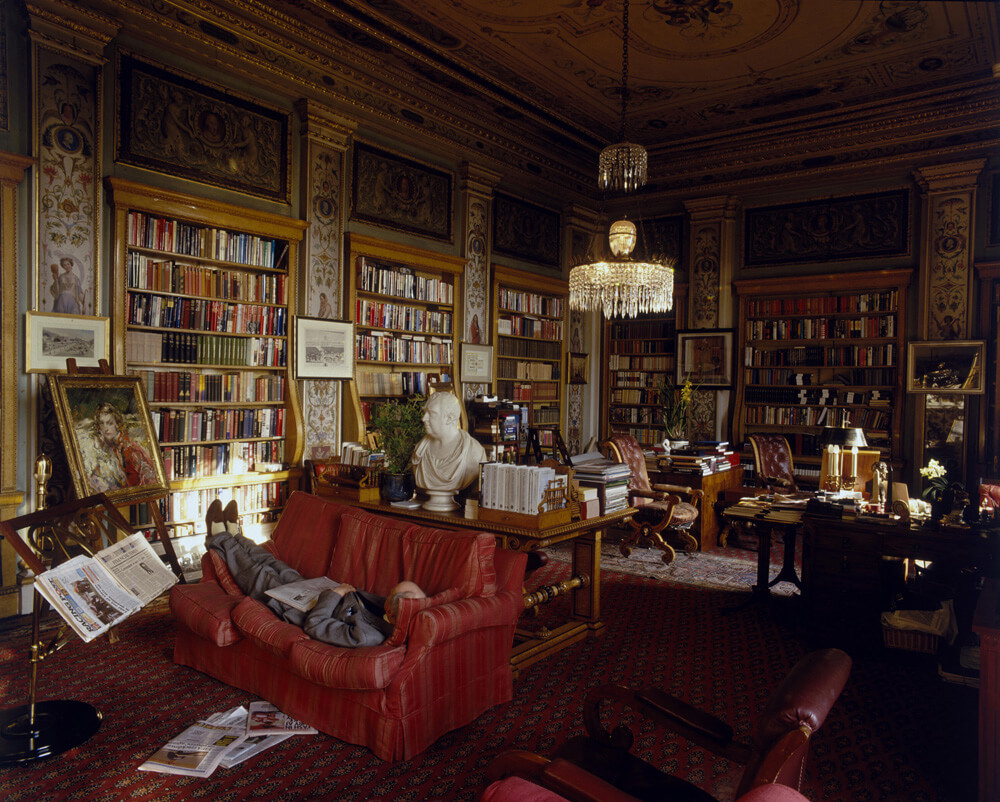 Chatsworth Library from Christopher Simon Skyes fine art photography