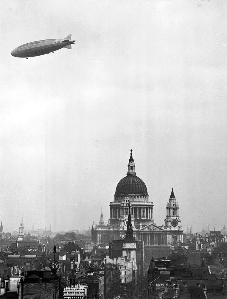 R-101 Over London fine art photography