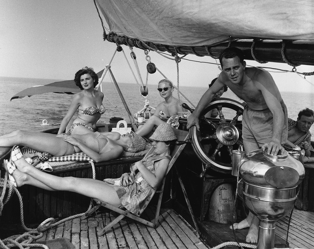 Relaxing On Yacht from Bert Hardy fine art photography
