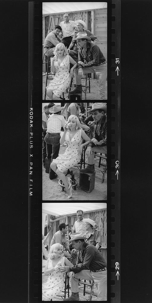 Marilyn And Cast Pose On The Set of 'The Misfits' fine art photography