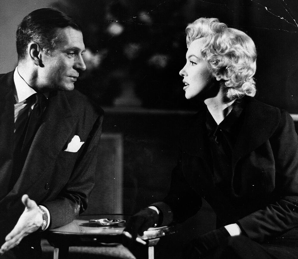 Monroe And Oliver At A Press Conference fine art photography