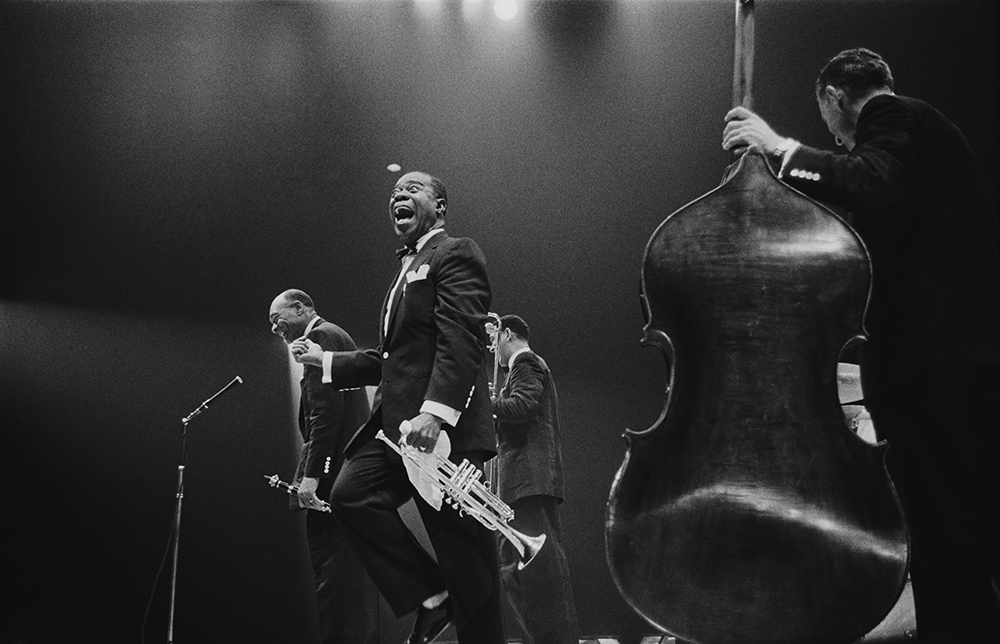 Louis Armstrong On Stage from Jazz fine art photography