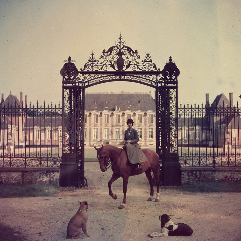 Equestrian Entrance from Slim Aarons France  fine art photography