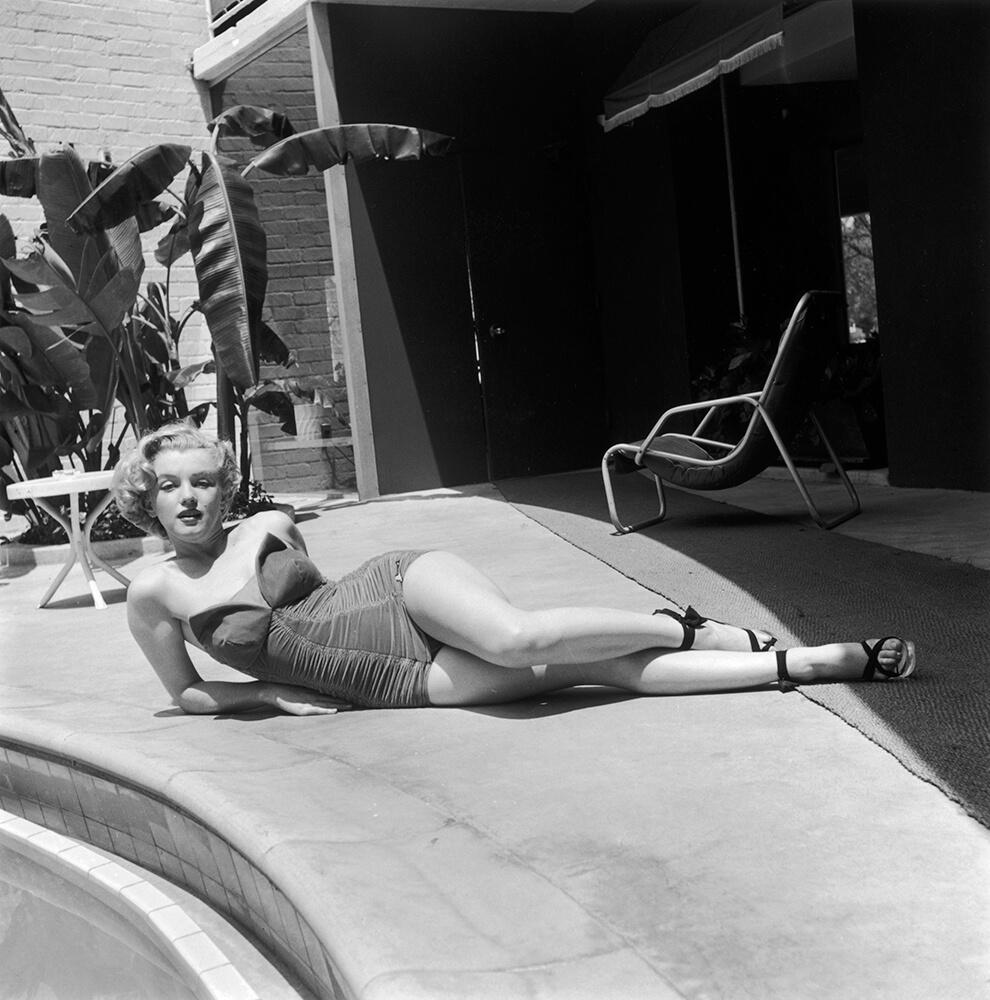 Poolside Star Marilyn Monroe from Marilyn Monroe fine art photography
