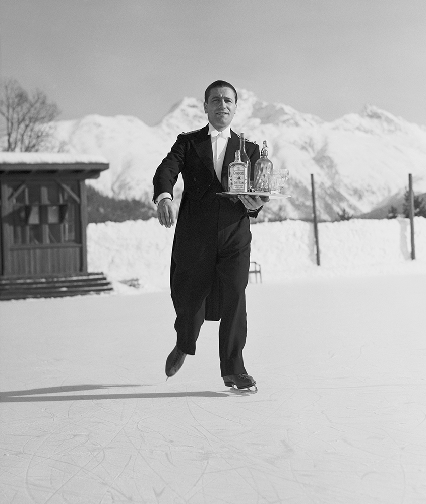 Skating Waiter from Snow fine art photography