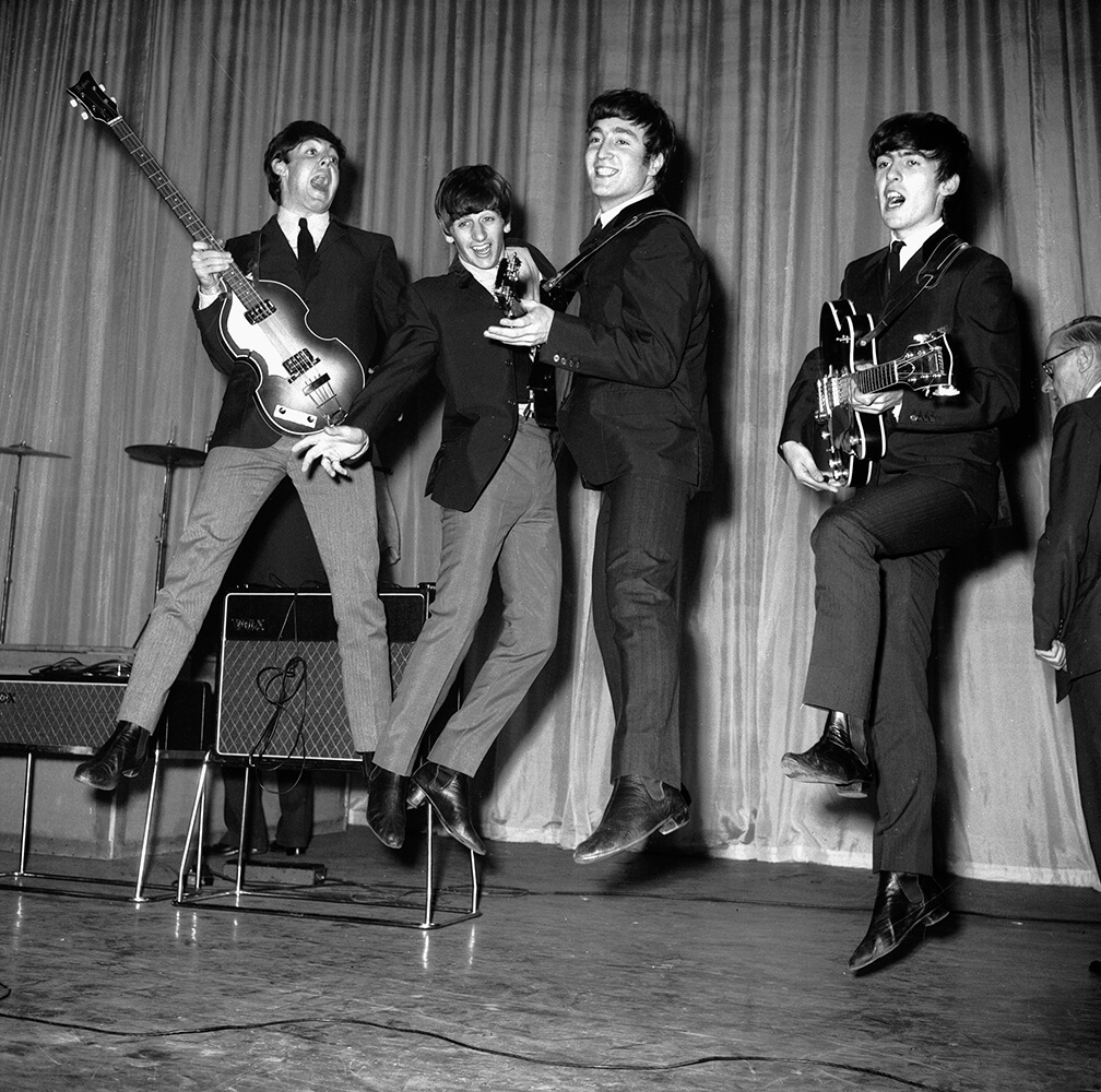 Leaping Beatles from Beatles fine art photography