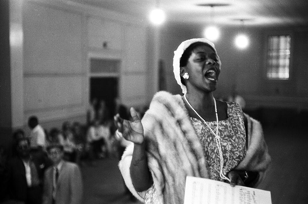 Dinah Washington Singing from The Spirit of Jazz fine art photography