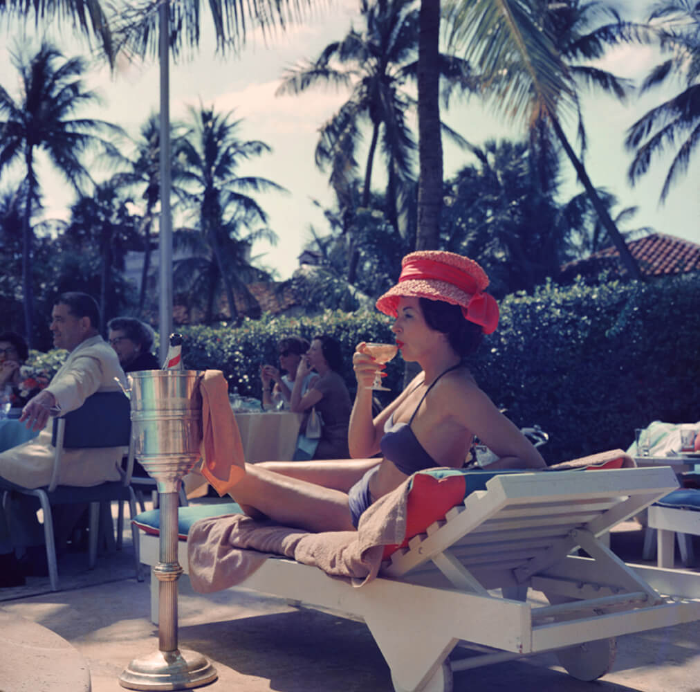 Leisure And Fashion from Slim Aarons Poolside fine art photography