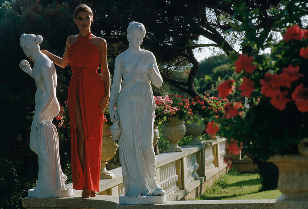 St Tropez Garden from Slim Aarons France  fine art photography