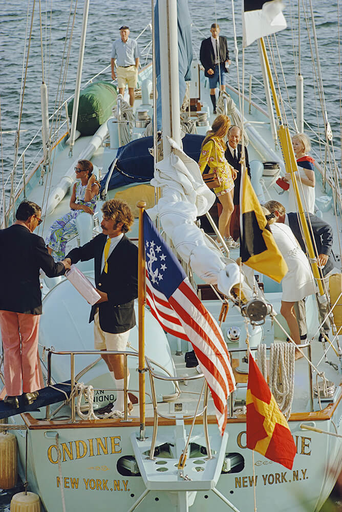 Party In Bermuda from Slim Aarons Islands fine art photography