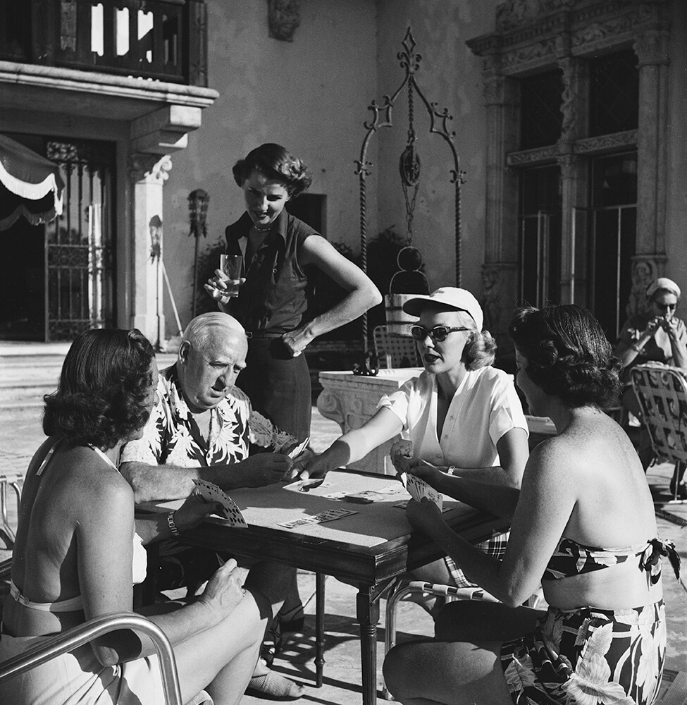 Four For Canasta from Slim Aarons B&W fine art photography
