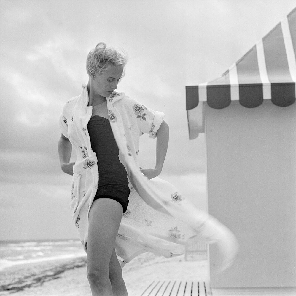 Pulitzer On The Beach from Slim Aarons B&W fine art photography