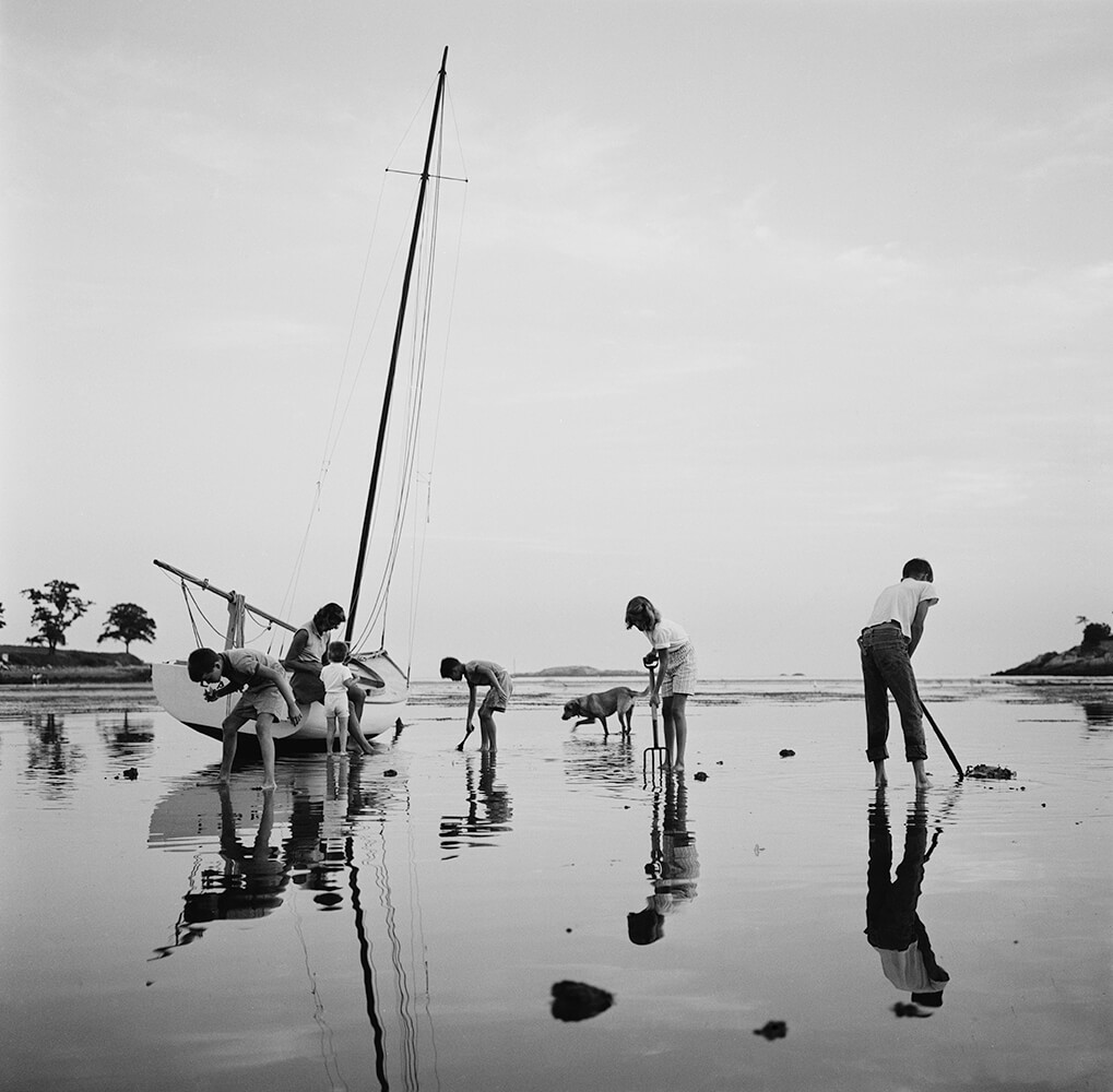 Digging For Clams from Slim Aarons B&W fine art photography