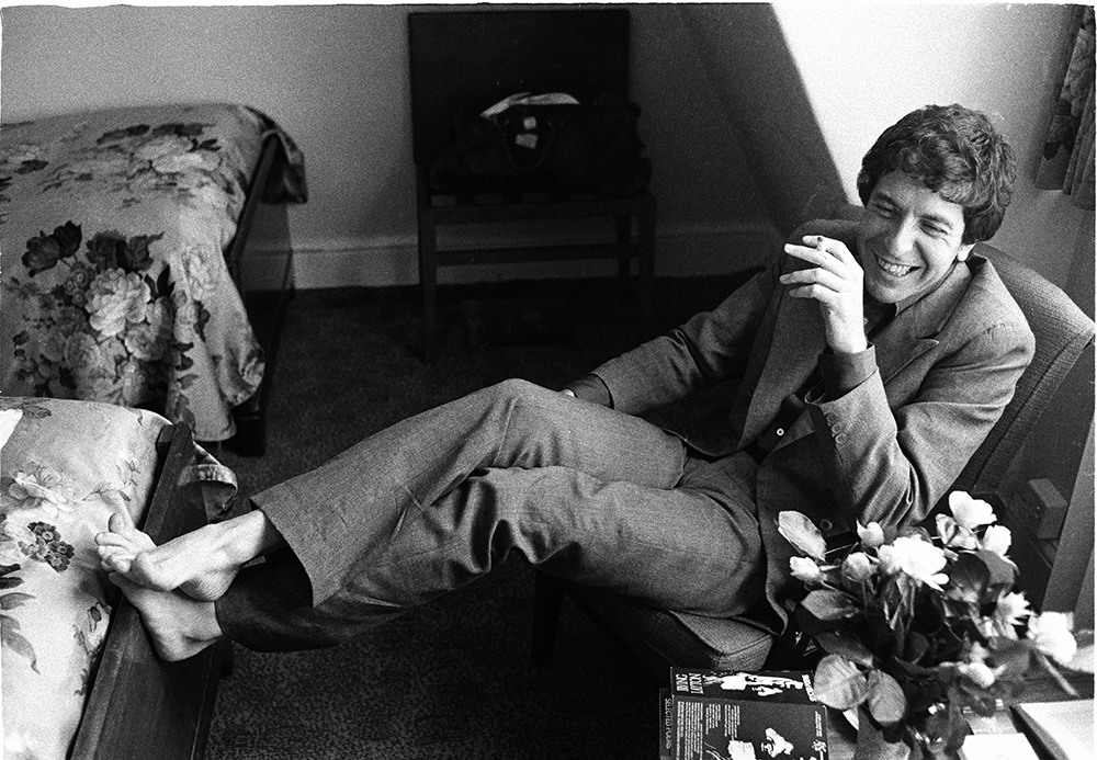 Leonard Cohen Relaxes from Music fine art photography