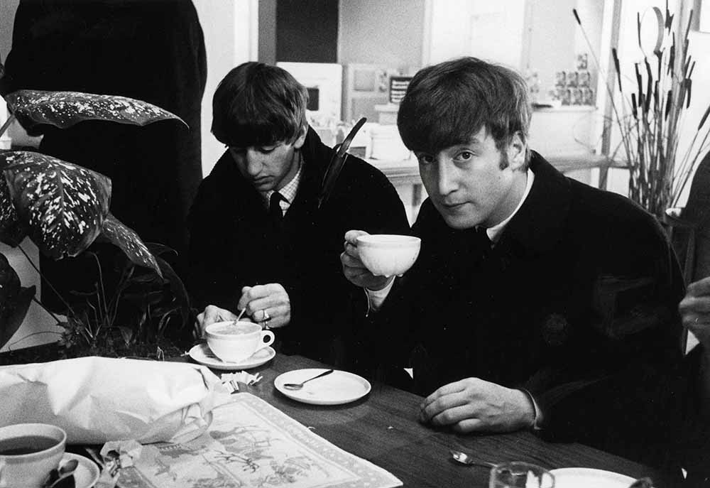 Volume 2 Page 85 Picture 7 The Beatles October 1963 Ringo Starr And John Lennon At Stockholm Airport Sweden Drinking A Cup Of Coffee Getty Images Gallery